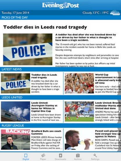 The Yorkshire Evening Post Newspaper - Free download and