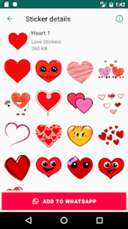 Love Stickers For Whatsapp Wastickerapps Free Download And Software Reviews Cnet Download