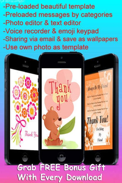 thank you cards maker with photo editorcustomise and send